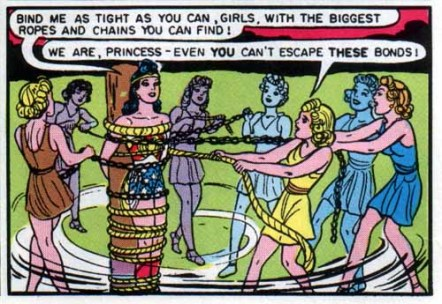 Image result for wonder woman bondage